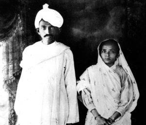 Mahatma Gandhi with beloved wife Kasturibai