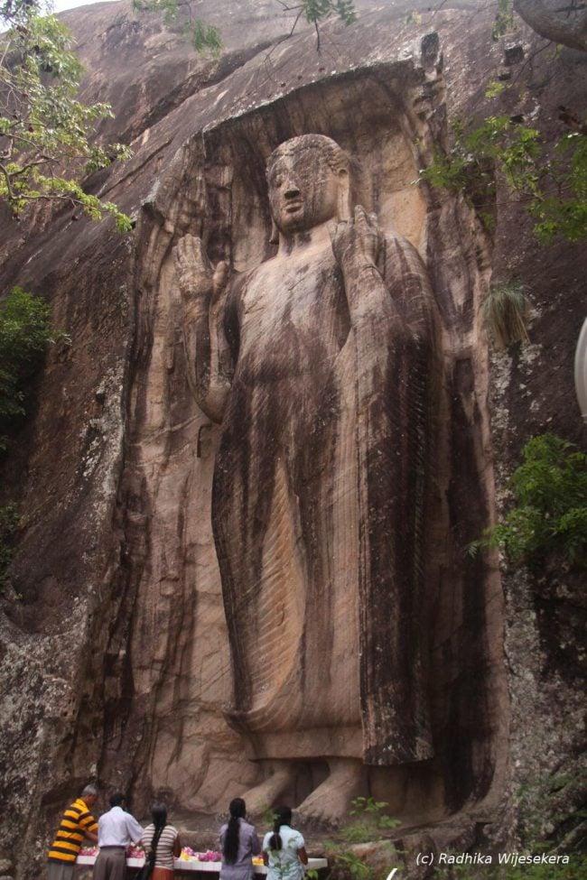 The mighty Sasseruwa Buddha Statue. Image credit: Radhika Wijesekera