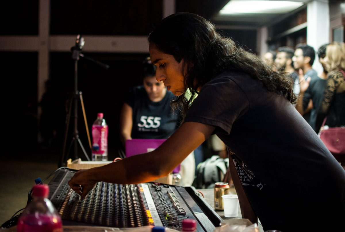 At Mosh Scream Rock X (Tribute to Venna) last month: Mirshad Buckman performs sound checks on the mixer before the show starts. He is the frontman of Paranoid Earthling and owner of Buckman Audio.