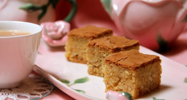 Love cake and tea, a great combination. Image courtesy: sacredtearsbook.com.au