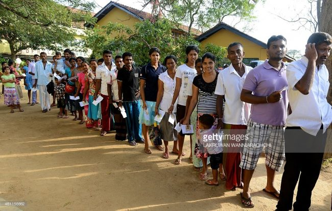 'Polima', it turns out, comes from 'fall in line' - who would have thought? Image credit: Getty Images/Lakruwan Wanniarachchi
