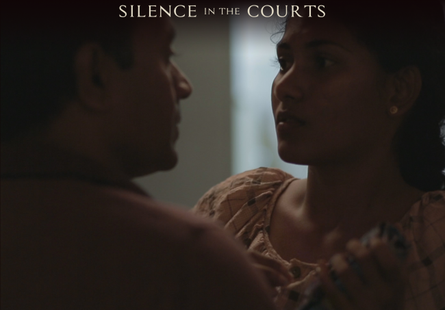 A still from the film. Image courtesy silenceinthecourts.com