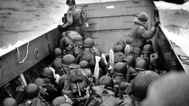 Storming the beaches of Normandy. Also known as D-Day, this was a pinnacle moment of World War II. Image courtesy: wikimedia.org