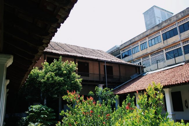 A view of the upper floor from the courtyard. Image courtesy writer