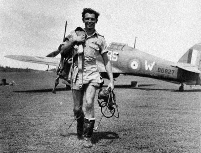 Pilot Officer Jimmy Whalen, RCAF, one of the RAF 30 Squadron defenders of Ceylon. Image courtesy: historicwings.com