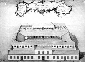 A drawing of the Dutch Hospital dating back to the 18th century. Image courtesy sundaytimes.lk