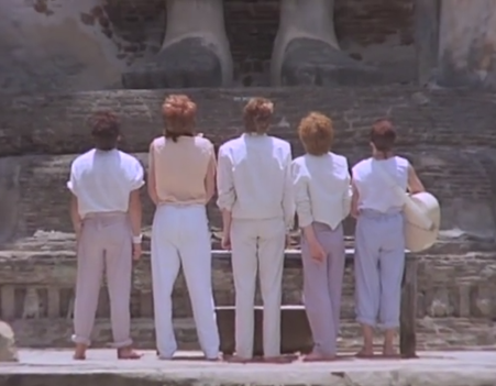 Duran Duran stand in reverence. Credit: YouTube.
