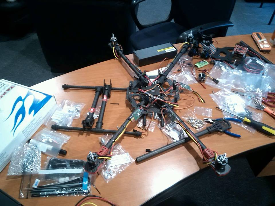 Hexa-copter, pre assembly