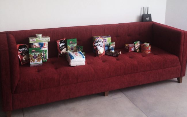 The little assortment of stuff we had delivered to Roar HQ.