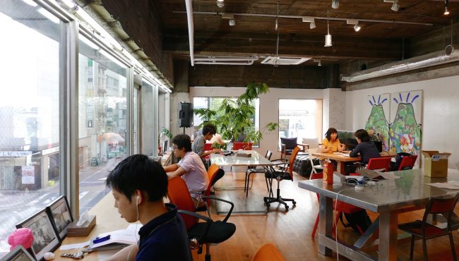 A coworking space in Tokyo. Image courtesy: Tech in Asia