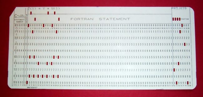 IBM punched card