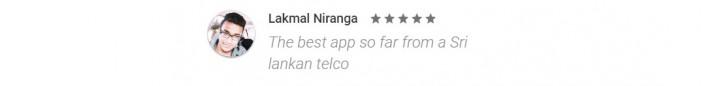 පාරිභෝගිකයන් MyDialog ඇප් එක ගැන Google Play Store එකේ දක්වා ඇති අදහස්.