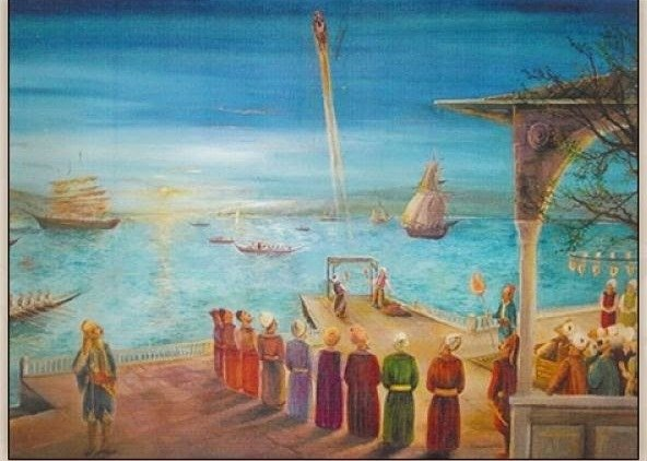 শিল্পীর কল্পনায় লাগারি হাসান সেলেবির রকেট – ছবি- kartamirakrym.blogspot.com